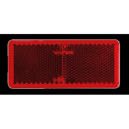 Reflex retangulär röd