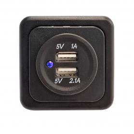 USB Uttag 2x Fawo med ram