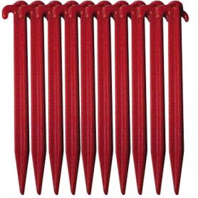 Tältpinne plast Röd 20cm